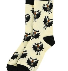 Lazy One Bat Moose Crew Socks 9-11
