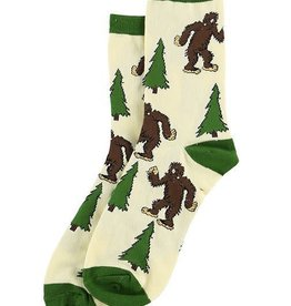 Lazy One I Believe Bigfoot Crew Socks 9-11