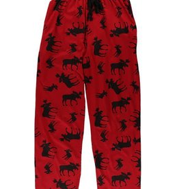 Lazy One Red Classic Moose Unisex PJ Pant