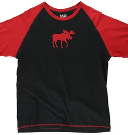 Lazy One Red Classic Moose Unisex PJ Tee