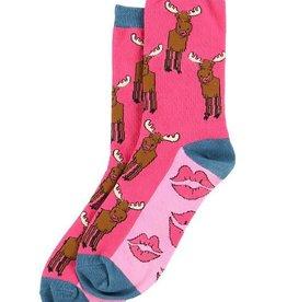 Lazy One Moose Kiss Crew Socks 9-11
