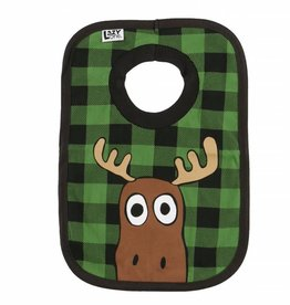 Moose Plaid Bib