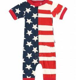 Stars & Stripes S/S Infant PJ Romper