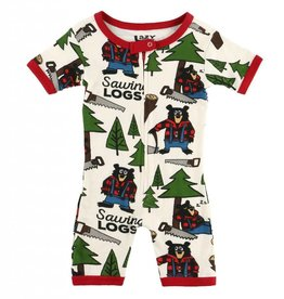 Sawing Logs S/S PJ Romper