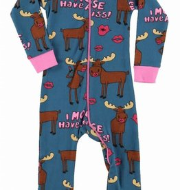 Lazy One I Moose Have A Kiss Union Suit