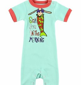 Sea You In The Morning S/S Infant PJ Romper