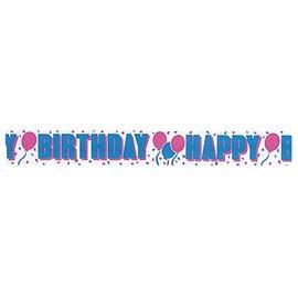 "Paper Crepe Streamer-Happy Birthday-1pkg-2.75""x30ft"