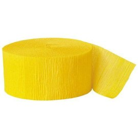 """Paper Crepe Steamer- Hot Yellow- 81ft x 1.75"""""""