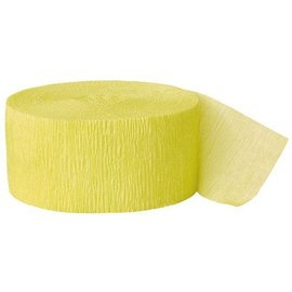 """Paper Crepe Streamer- Canary Yellow (81ft x 1.75"""")"""