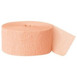"Paper Crepe Streamer- Peach (81ft x 1.75"")"