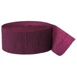 "Paper Crepe Streamer- Burgundy (81ft x 1.75"")"