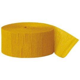 """Paper Crepe Streamer- Goldenrod (81ft x 1.75"""")"""
