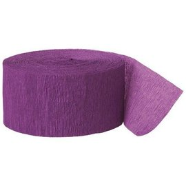 "Paper Crepe Streamer- Purple (81ft x 1.75"")"