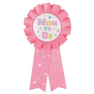 Award Ribbon-Baby Shower-Mom To Be-Pink