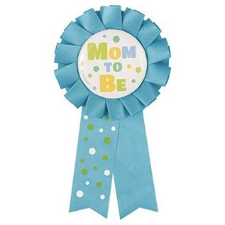 Award Ribbon-Baby Shower-Mom To Be-Blue