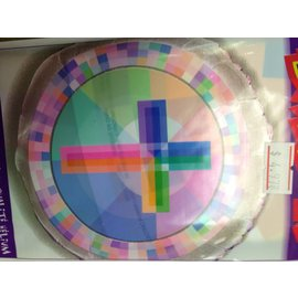 Foil Balloon - Cross - Multi Colour - 18''