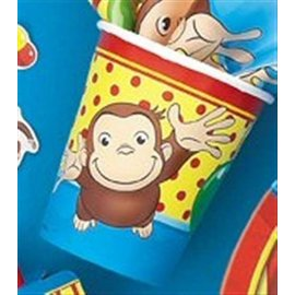 Cups-Curious George-Paper-8pk - Discontinued