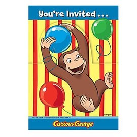 Invitations-Curious George-8pk