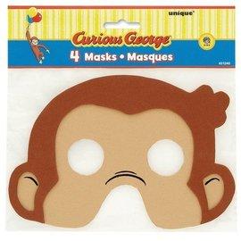Masks-Curious George-4pk