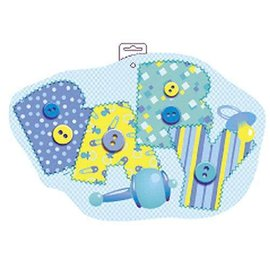 Cutout-Baby Blue Stitching-1pkg