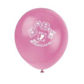 Balloons-Latex-Baby Stitching-Pink,Purple-12''-8pk