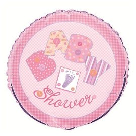 Foil Balloon - Baby Stitching - Pink - 18""