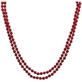 Bead Necklace-Canada Red-31''