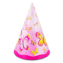 Hats-Cone-Butterflies and Dragonflies-8pk-Paper