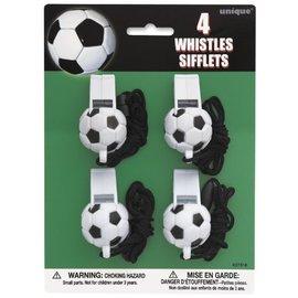 Whistles-Soccer Ball-4pk