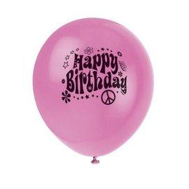 Balloons-Latex-60's Groovy-12''-8pk