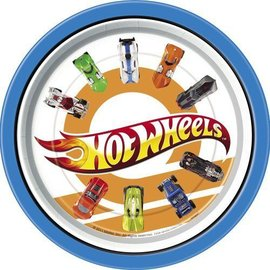 Plates-LN-Hot Wheels-8pk-Paper - Discontinued