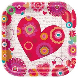 Plates-LN-Valentine-Hearts in Bloom-8pk-Paper