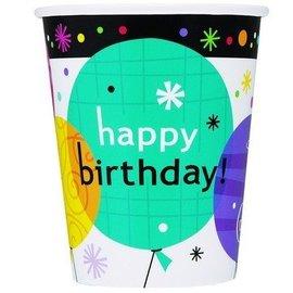 Paper Cups-Breezy Birthday-8pkg-9oz