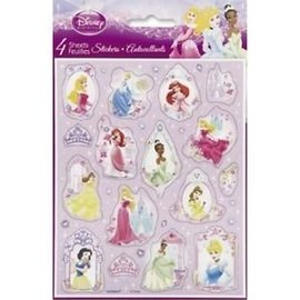 Stickers-Disney Princess-1pkg-4 Sheets