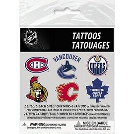 Temporary Tattoos-NHL-1pkg-2 Sheets