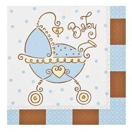Napkins-LN-Baby Joy Blue-16pk-2ply - Discontinued