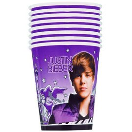 Cups-Justin Bieber-Paper-9oz-8pk (Discontinued)