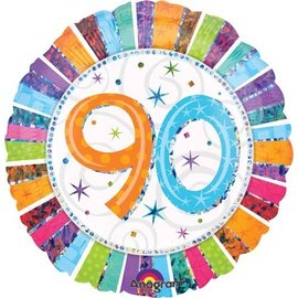 Foil Balloon - 90 Radiant Birthday - 18""