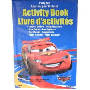 Activity book-Disney Pixar Cars-4pk