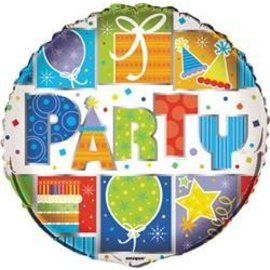 Foil Balloon - Party Style - 18''