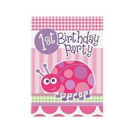 Invitations-1st Bday Ladybug-8pk