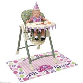 High Chair KIt-Happy 1st Birthday Ladybug-1pkg