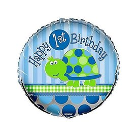 Foil Balloon -1st Birthday - Turtle - 18''