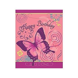"Loot Bags- Butterfly Happy Birthday- 8pk (7.25""x9"")"