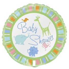 Foil Balloon - Baby Shower Zoo Animals - 18''