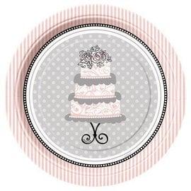 "Beverage Paper Plates- Elegant Wedding- 8pk/7"" (Discontinued)"