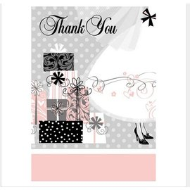 "Thank You Cards- Elegant Wedding- 8pcs (5.5""x4"")"