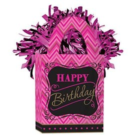 "Balloon Bag Weight-Fabulous Birthday-1pkg-5.5""x3"""
