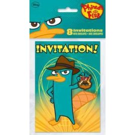 Invitations-Phineas And Ferb-8pk (Discontinued)