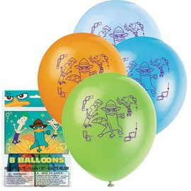 Balloons-Latex-Phineas and Ferb-12''-8pk (Discontinued)